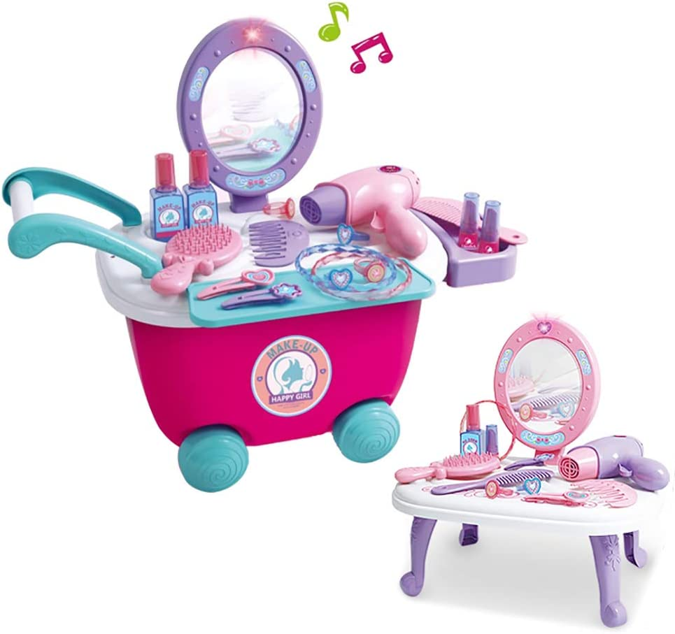 Dreamon Caja de Maquillaje y joyería Pretender Juguete Juego de Roles Juego Educativo y Regalos para niños más de 3 4 5 6 años