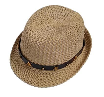 Aloiness Straw Beach Hats Hat Straw Beachcomber Cheap Panama Summer Fedora  Trilby Hat for Fancy Dress f71df69c525