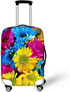 Fashion Travel Dachshund Dog Among The Flowers Luggage Suitcase Protector Washable Baggage Covers
