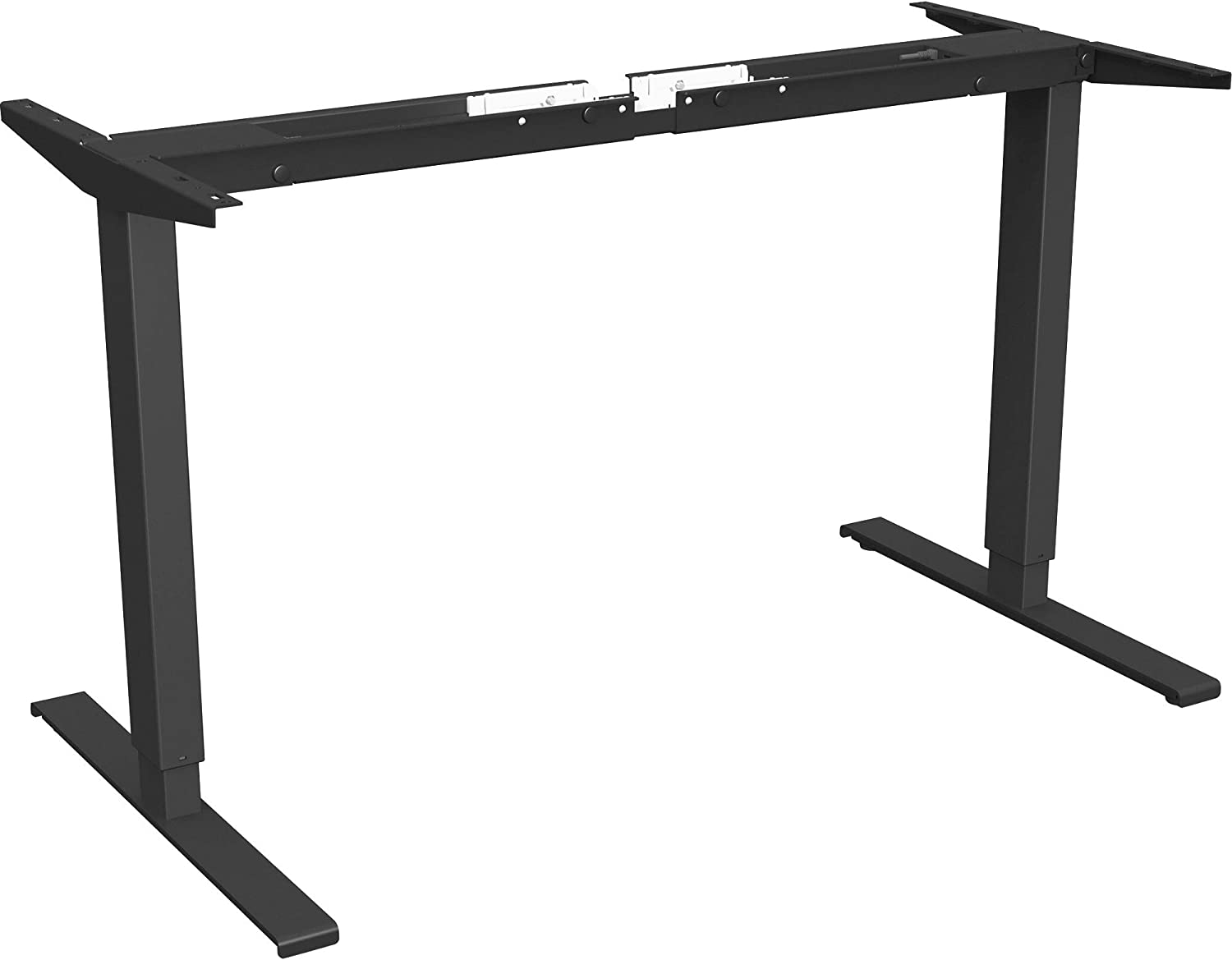 Lorell Quadro Workstation Sit-to-Stand 2-Tier Table Base, Black