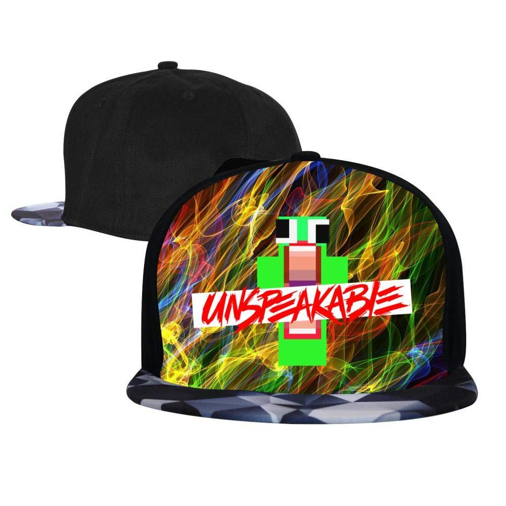 BEKAI Unisex Fantasy Unspeakable Logo Adjustable Brimbill Flats Hat for Mens//Womens Hip Hop Caps
