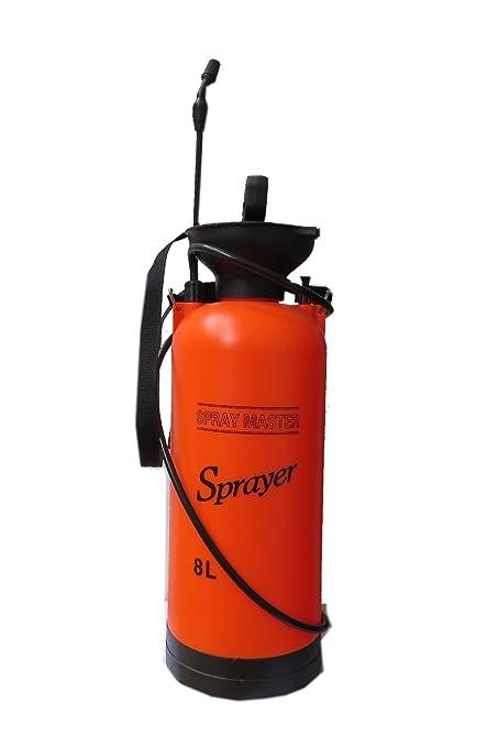 Agricom Plastic Garden Hand Sprayer 8Ltr (18 cms x 56 cms, Orange)