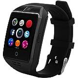 CHEREEKI Android Smart Watch [Schermo Curvo & Soft Strap] Bluetooth Smartwatch con videocamera remota Sleep Monitor Pedometro Supporta SIM Card / TF Push SMS Notifica Facebook Twitter e WhatsApp