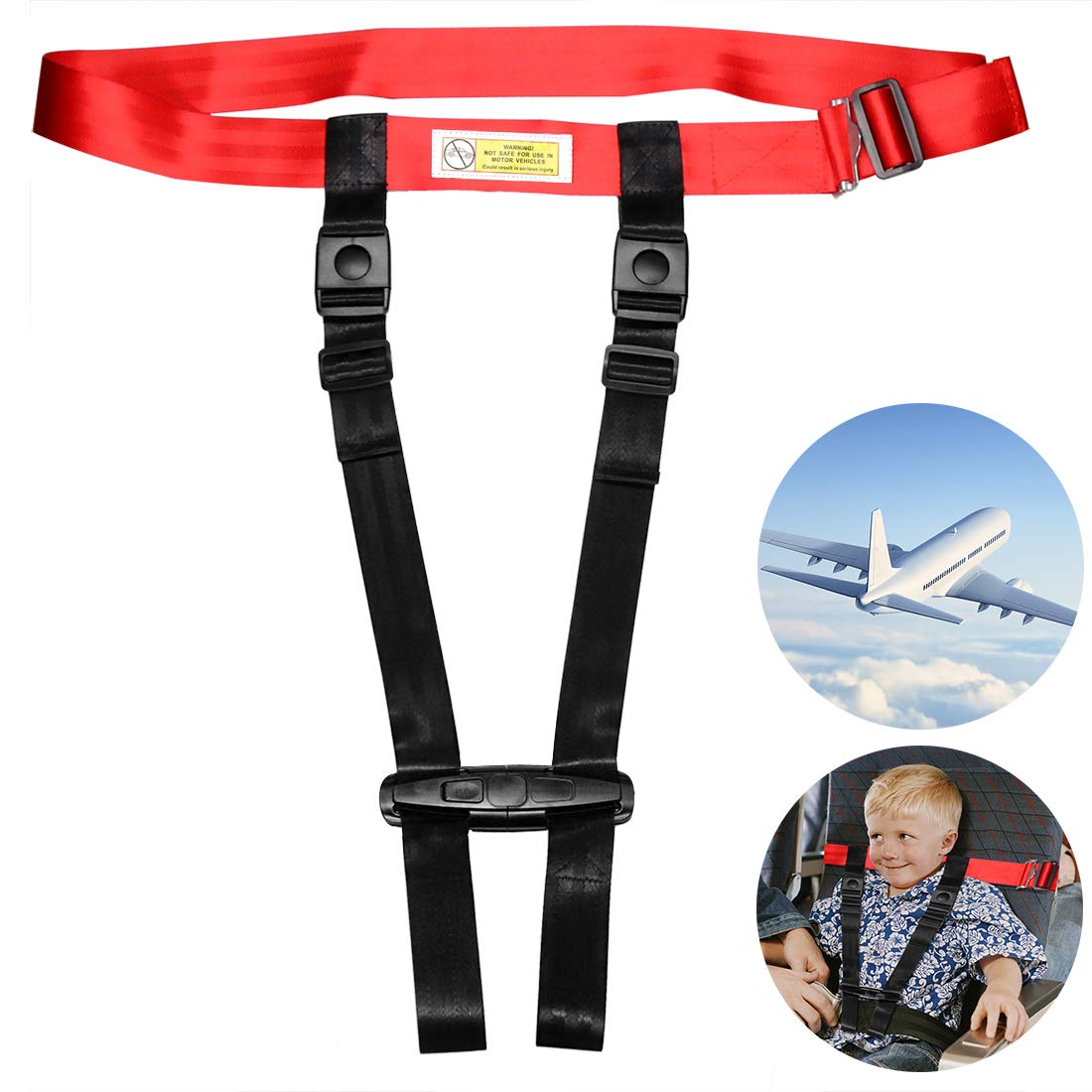 Child Airplane Travel Harness Safety Clip Strap Restraint System for Baby, Toddlers & Kids- for Airplane Travel Use Only