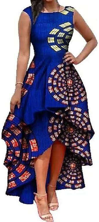 Womens sleeveless African Dress