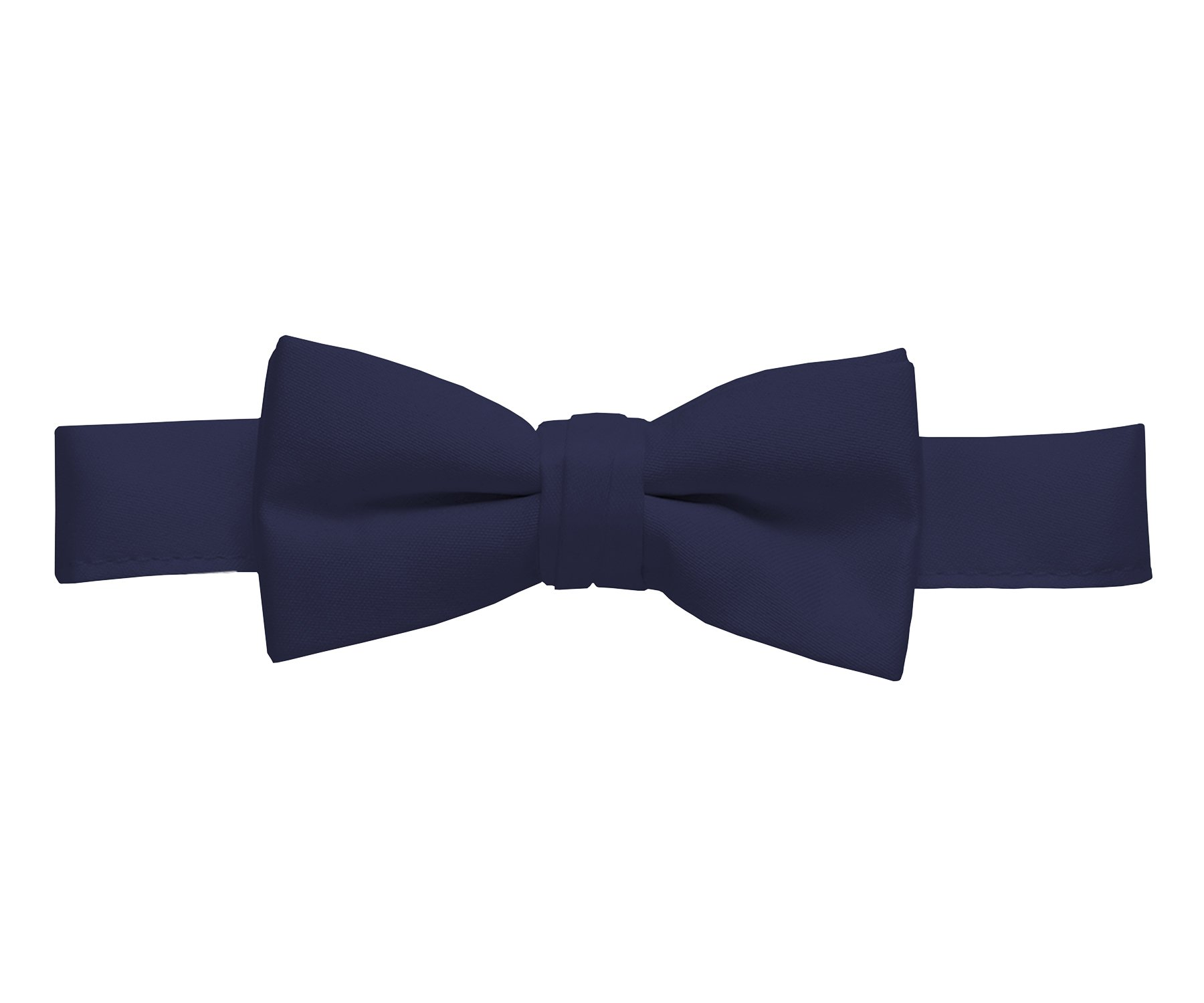 Hold'Em Bow Tie For Mens Boys and Baby Satin look Solid Color Adjustable Pre-tied Made in USA - Kids Navy Blue