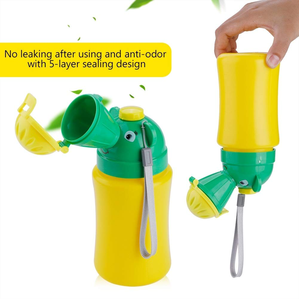 Portable Car Travel Camping Convenient Pee Training Cup for Girl Boy Haokaini Baby Emergency Urinal Pee Potty Toilet Color : Boy