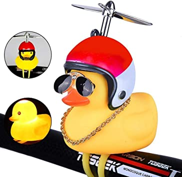 Duck Bike Bell, Lindo Propeller Duck Bicycle Accesorios de Goma ...
