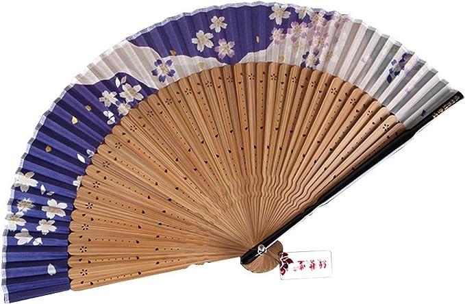 TD Abanico Ventilador De Mano Mano Abanicos Plegables Arte Bambú ...