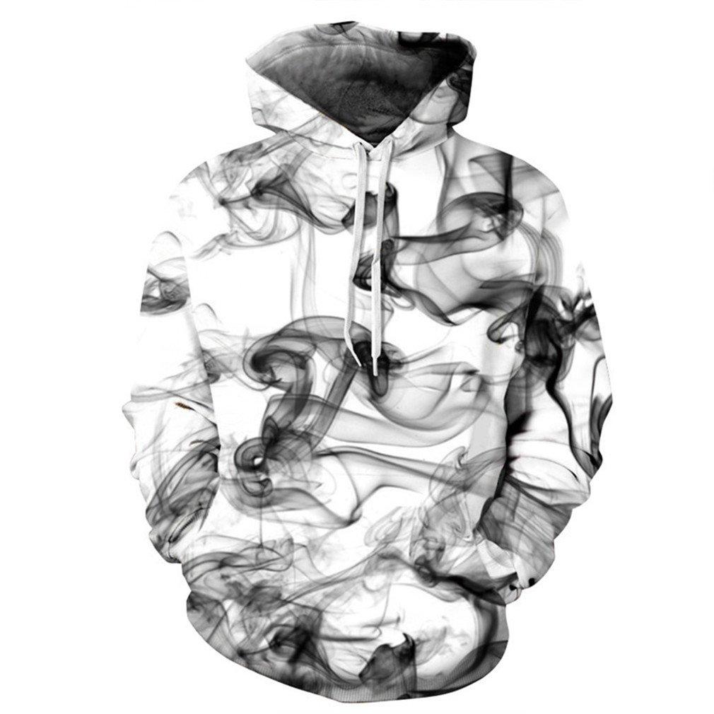 Cavinsle Men//Women 3D Sweatshirts Print HD Graphic Dreamy Smoke Lines Style Hoodies