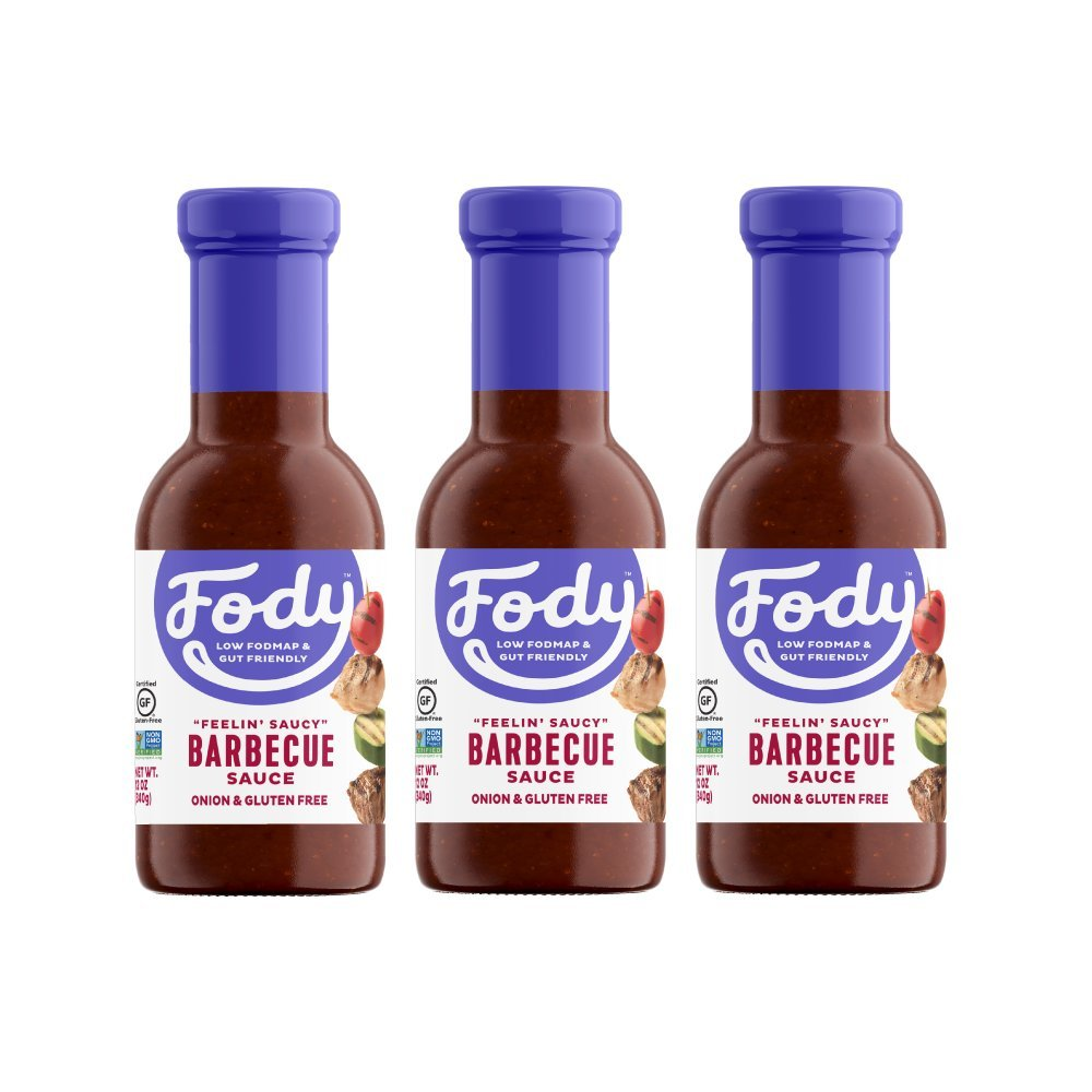 Fody Foods Vegan BBQ Sauce | Low FODMAP Certified | Gut Friendly, No Onion | IBS Friendly Kitchen Staple | Gluten Free, Lactose Free, Non GMO | 12 Ounce pack of 3