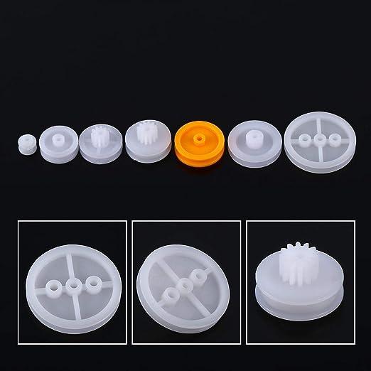 7 STÜCKE Motor Zahnriemen Kunststoff Riemenscheibe für DIY Spielzeugauto Zube WG