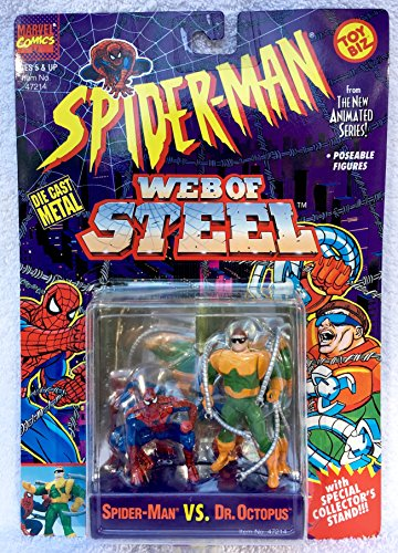 (Web of Steel Spiderman The New Animated Series Spider-Man VS Dr. Octopus Die Cast Metal)
