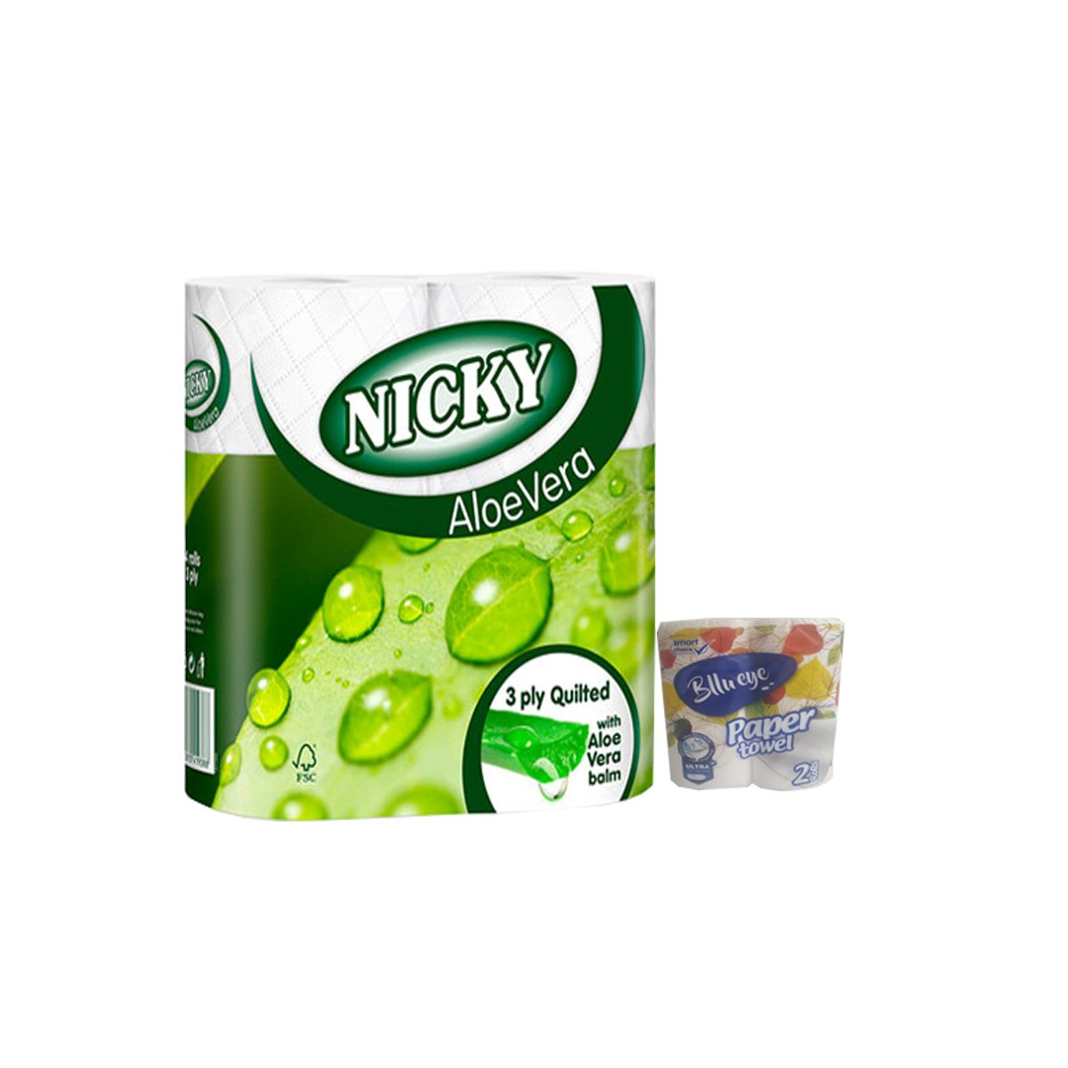 3 Ply Quilted Toilet Rolls Nicky Elite Aloevera - 45 rolls with free ...