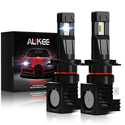 Aukee H7 LED Headlight Bulb, 12000Lm 6000K 60W Extremely Bright All-in-One Conversion Kit: Automotive