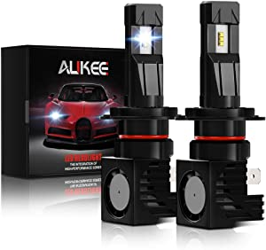 Aukee H7 LED Headlight Bulb, 12000Lm 6000K 60W Extremely Bright All-in-One Conversion Kit