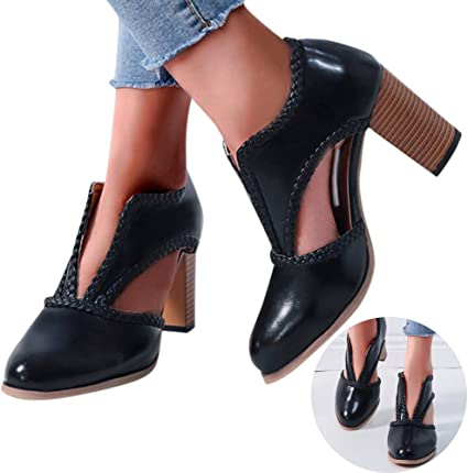 NEW GIRLS KIDS CUT OUT BLOCK HEEL LACE UP CHILDREN/'S SANDALS SHOES SIZE 10-2