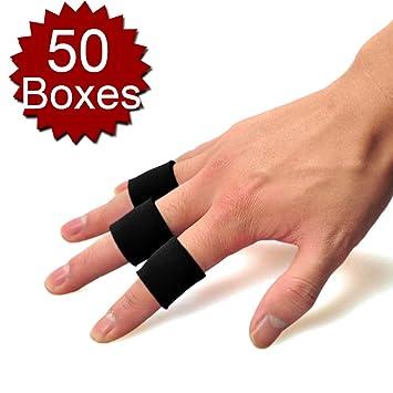 Gogo Mayor 50 Cajas - 10 pcs/Caja Dedo Brace, Protector de Banda para Dedo para Baloncesto, High-Elastic: Amazon.es: Deportes y aire libre