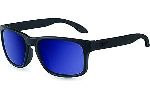 Pegaso Rocky Gafas de sol, Gris/Espejo Azul Revo, 55 Unisex ...