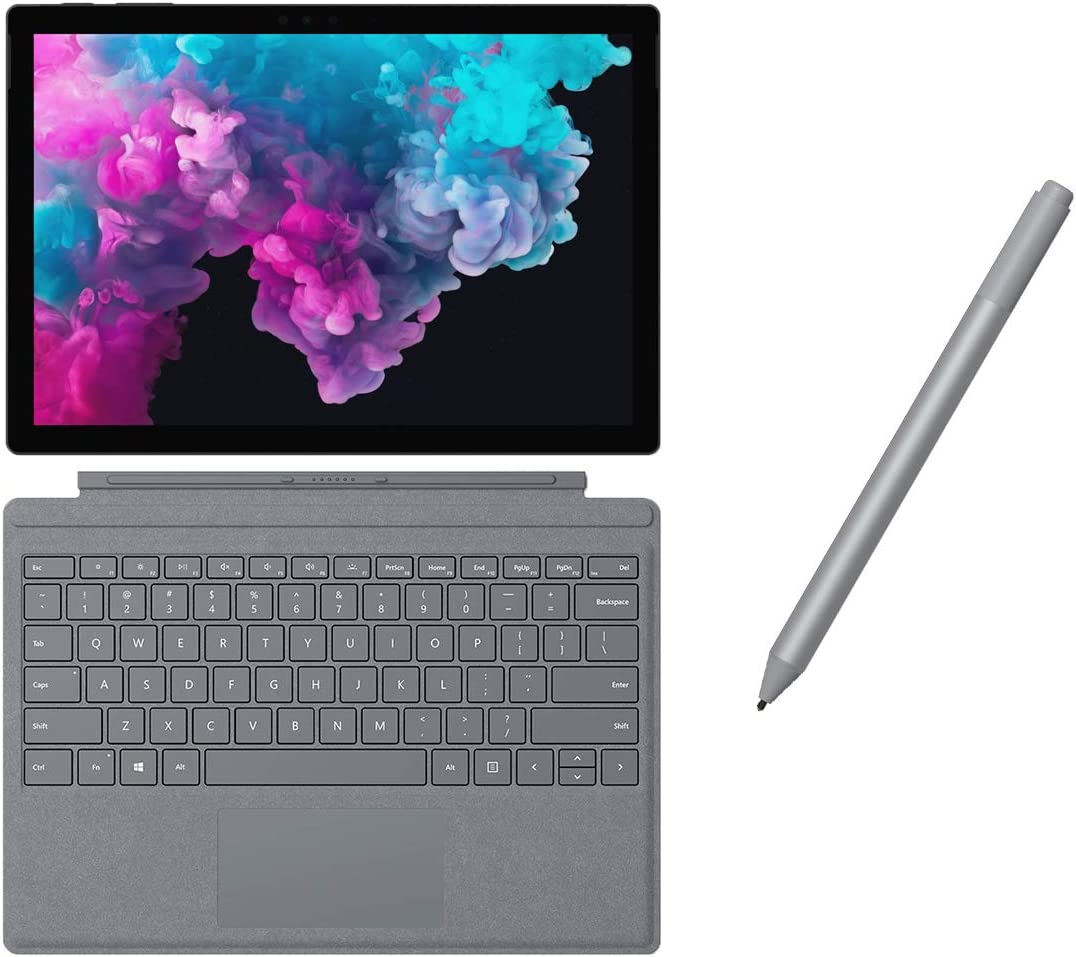 "Microsoft Surface Pro 6 2 in 1 PC Tablet 12.3"" (2736 x 1824) Touchscreen - Intel Core i5 (up to 3.40 GHz) - 8GB Memory - 128GB SSD - Fanless - Keyboard and Surface Pen - Black"