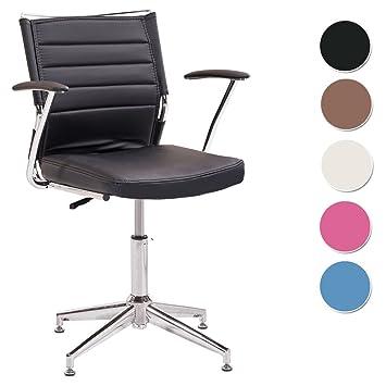 Silla de escritorio para despacho modelo LIFE con base fija color negro – Sedutahome