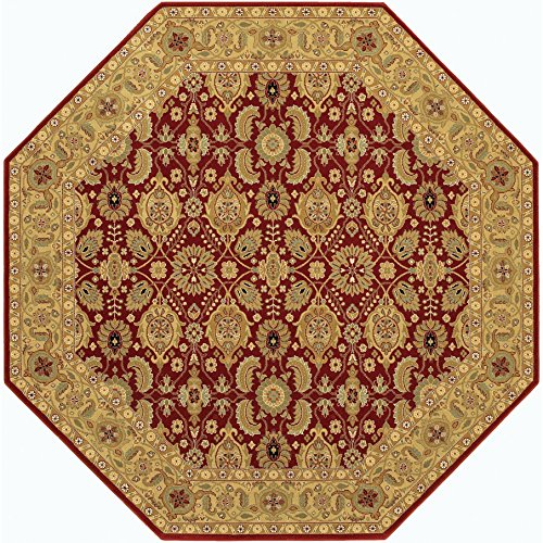 Couristan 8132/2608 Royal Kashimar All Over Vase/Persian Red 4-Feet 6-Inch Octagon Rug (Couristan Vases Persian)