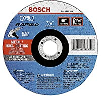 "Bosch Tcw1s450 Type 1 Thin Cutting Disc, 4-1/2""x.040""x7/8"" (Pack Of 25)"