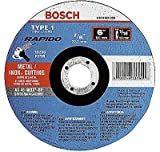 Bosch Tcw1s450 Type 1 Thin Cutting Disc, 4-1/2''x.040''x7/8'' (Pack Of 25)