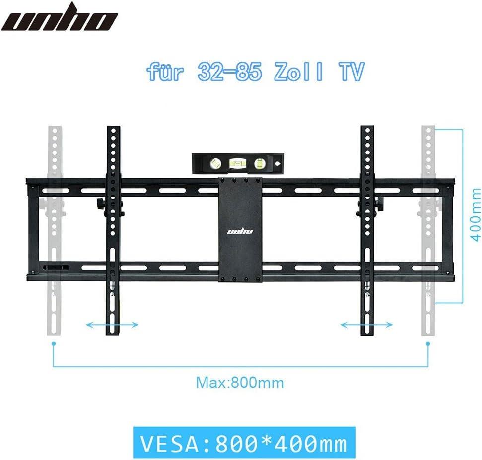 unho® pared televisor TV inclinable Soporte universal fernsehh Projector plano Soporte Soporte De Pared Para Lcd Curved 4 K OLED LCD Plasma pantalla plana/para 32