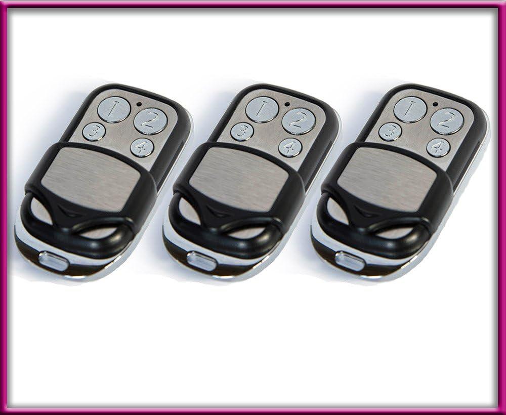 504 MAX43-4 Lot de 3 t/él/écommandes de Rechange 433,92 MHz /à Code tournant NOVOFERM NOVOTRON 502 MAX43-2