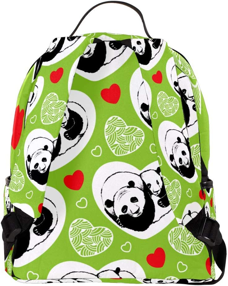 MAPOLO Laptop Backpack Sleeping Pandas and Hearts Casual Shoulder Daypack for Student School Bag Handbag Lightweight