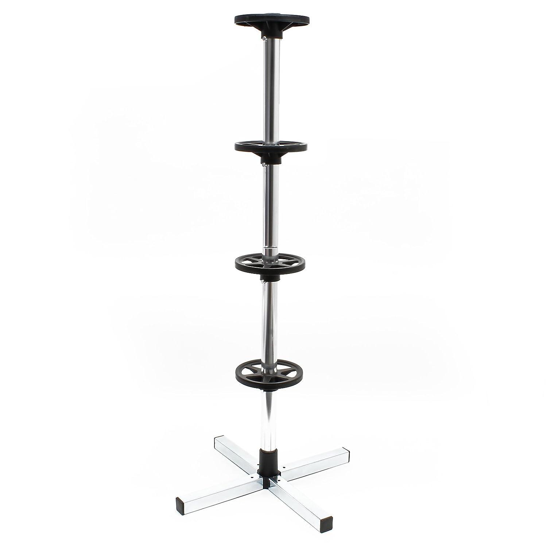 WilTec Arbre /à Roues Support de Rangement de Roues pour Jantes jusqu/à 225mm en Aluminium