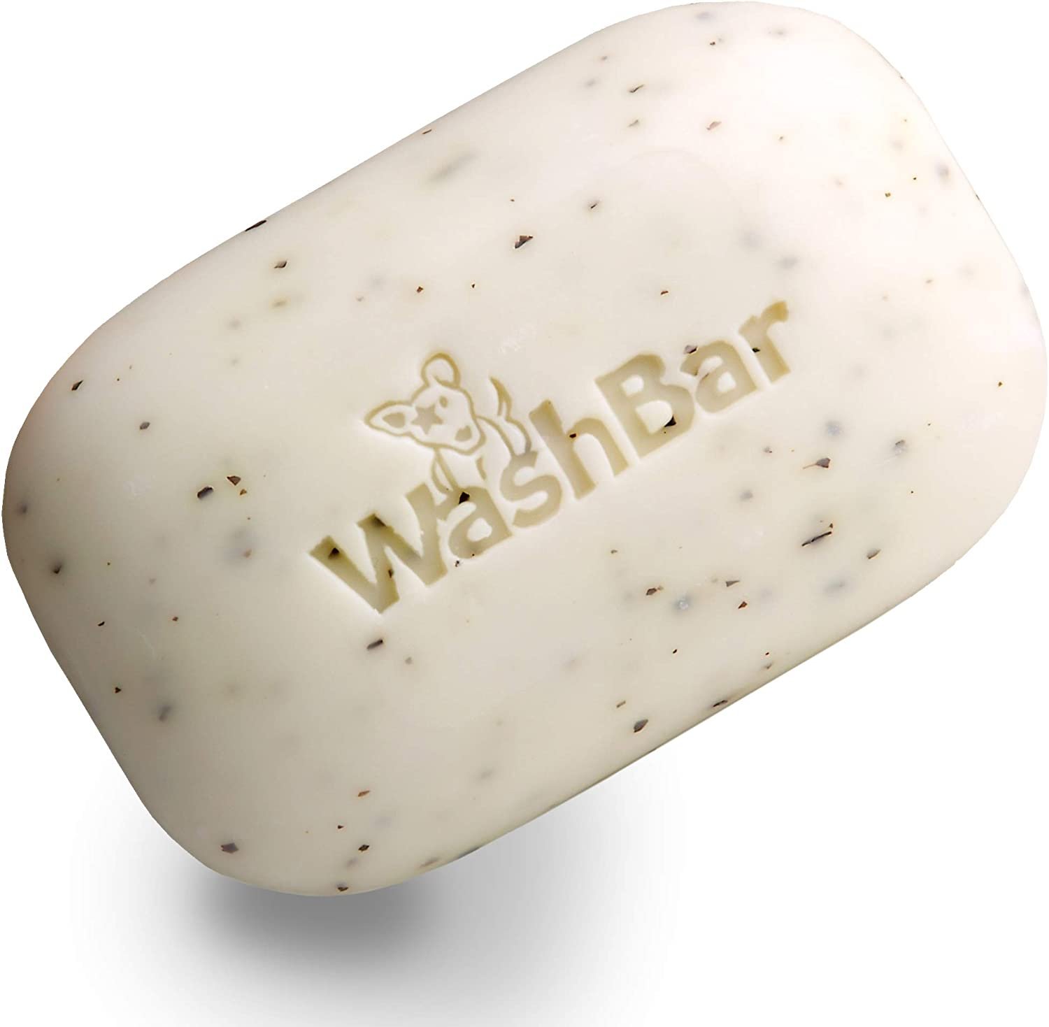 Bar of soap for dogs with WashBar text
