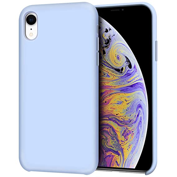 save off b75c5 3cc69 Anuck iPhone XR Case, Anti-Slip Liquid Silicone Gel Rubber Bumper Case with  Soft Microfiber Lining Cushion Slim Hard Shell Shockproof Protective Case  ...