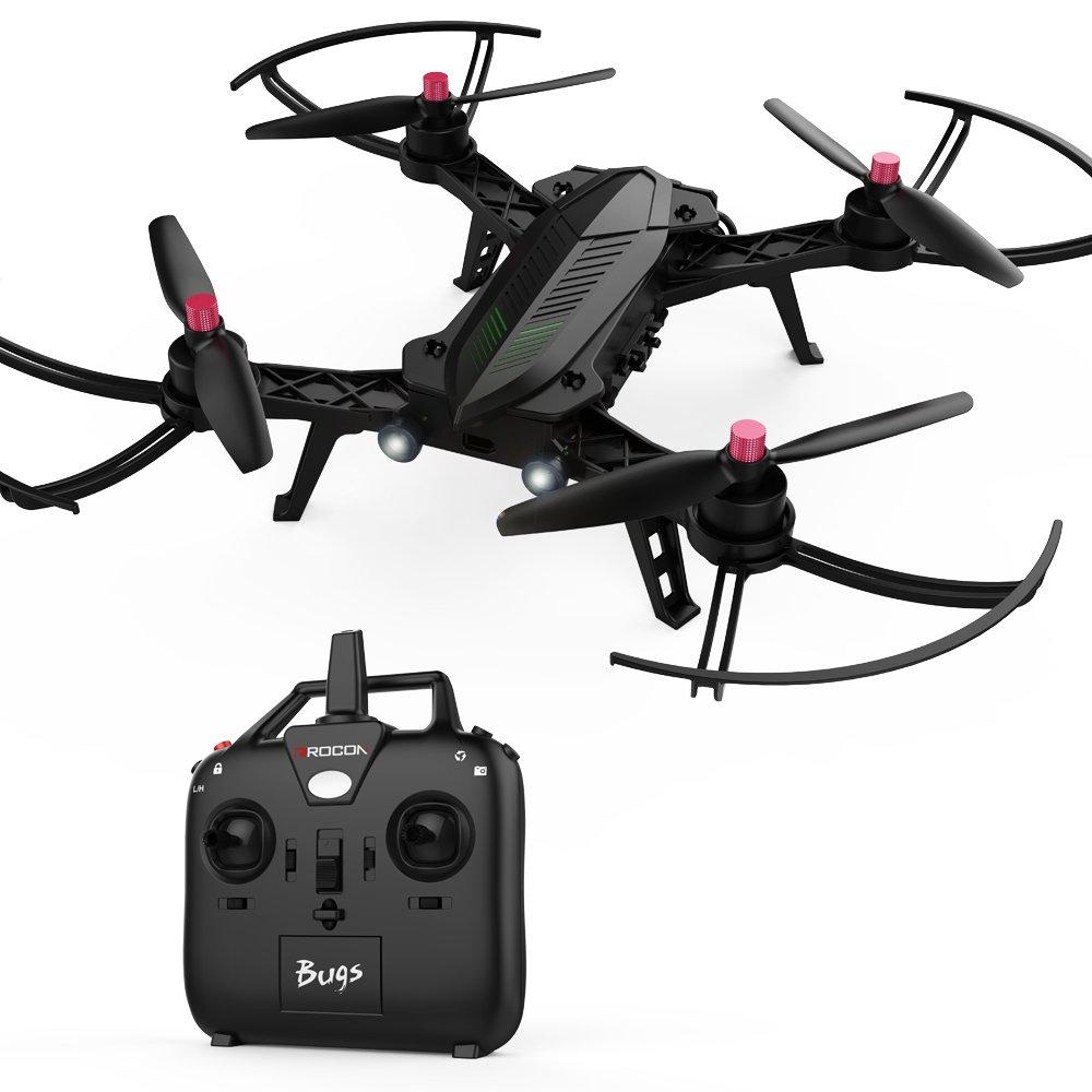 DROCON / Bugs 6 Bürstenlose Speedy Drohne 1806 1800KV Motor Vormontiert RTF Quadcopter zum Training für R/C Renndrohnen (Ausbaufähig zu FPV) MJX RC B6
