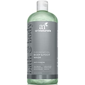 ArtNaturals Essential Bath and Body Wash Ð 355ml - Antifungal Shower Gel - Tea Tree, Peppermint and Eucalyptus Oil - Natural Eczema Soap for Anti fungal Feet, Helps Kill Nail Fungus, Athletes Foot, Ringworm, Jock Itch and Odors