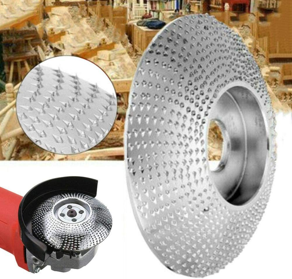 Yunt-11 Meule en Bois , 85mm 75mm Bois Meule en carbure de tungst/ène Pon/çage Outil de Sculpture Disque abrasif pour meuleuse dangle , Or//Ruban