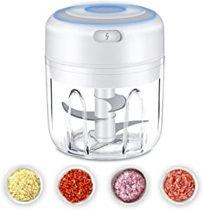 Electric Mini Garlic Chopper, Food Slicer And Chopper, Portable Garlic Blender Mini Chopper Food Processor For Pepper Chili Vegetable Nuts Meat
