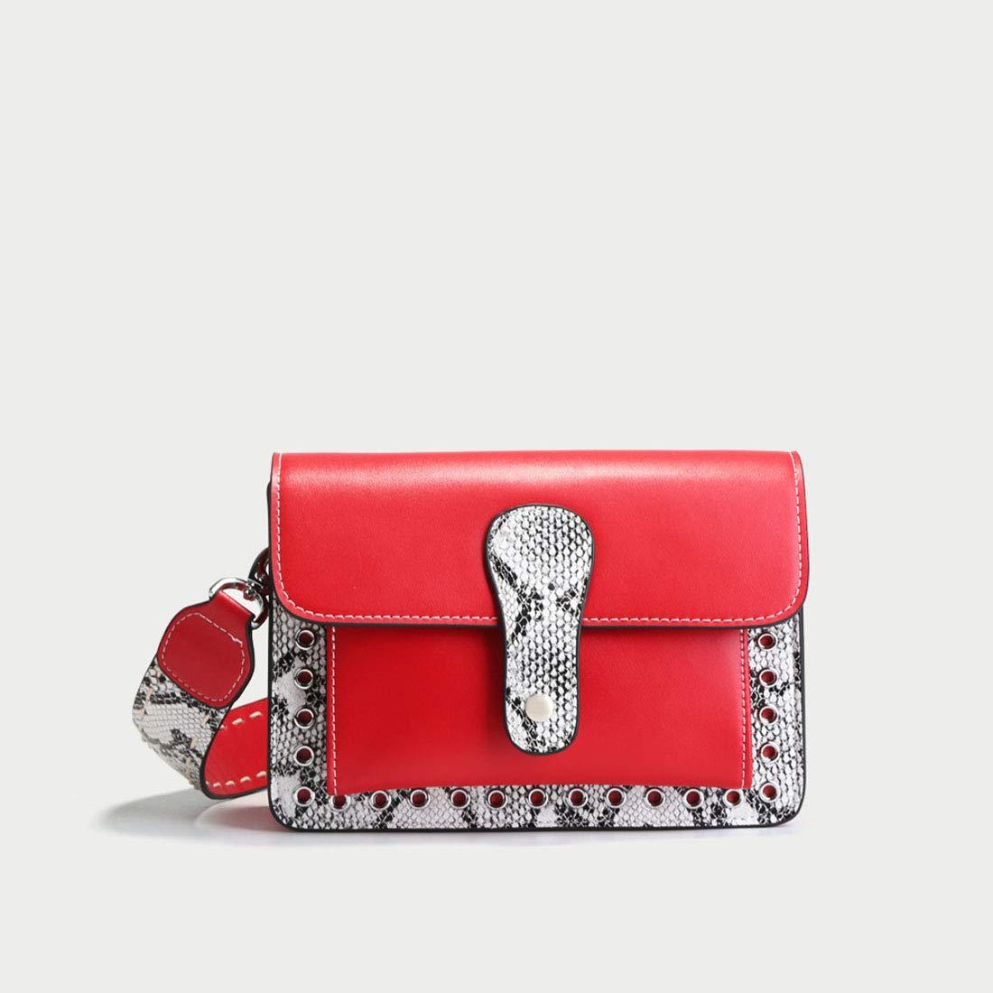 FELICIOO Damen Wild Breit Schultergurt Handtaschen Rindsleder Tasche Große Kapazität Kapazität Kapazität Umhängetasche Diagonal Cross Bag (Farbe   rot) B07LGNXD9C Schultertaschen Angenehmes Gefühl 213be5