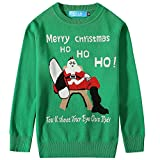 Product review for SSLR Big Boys' Santa Claus Pullover Crewneck Ugly Christmas Sweater