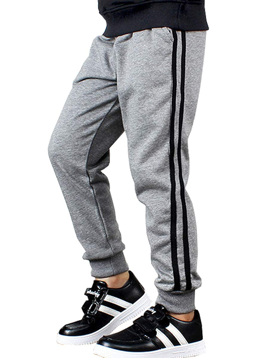 LittleXin Kids Boys Girls Casual Elastic Waist Sports Trousers Active Pants Age 5-13 Years