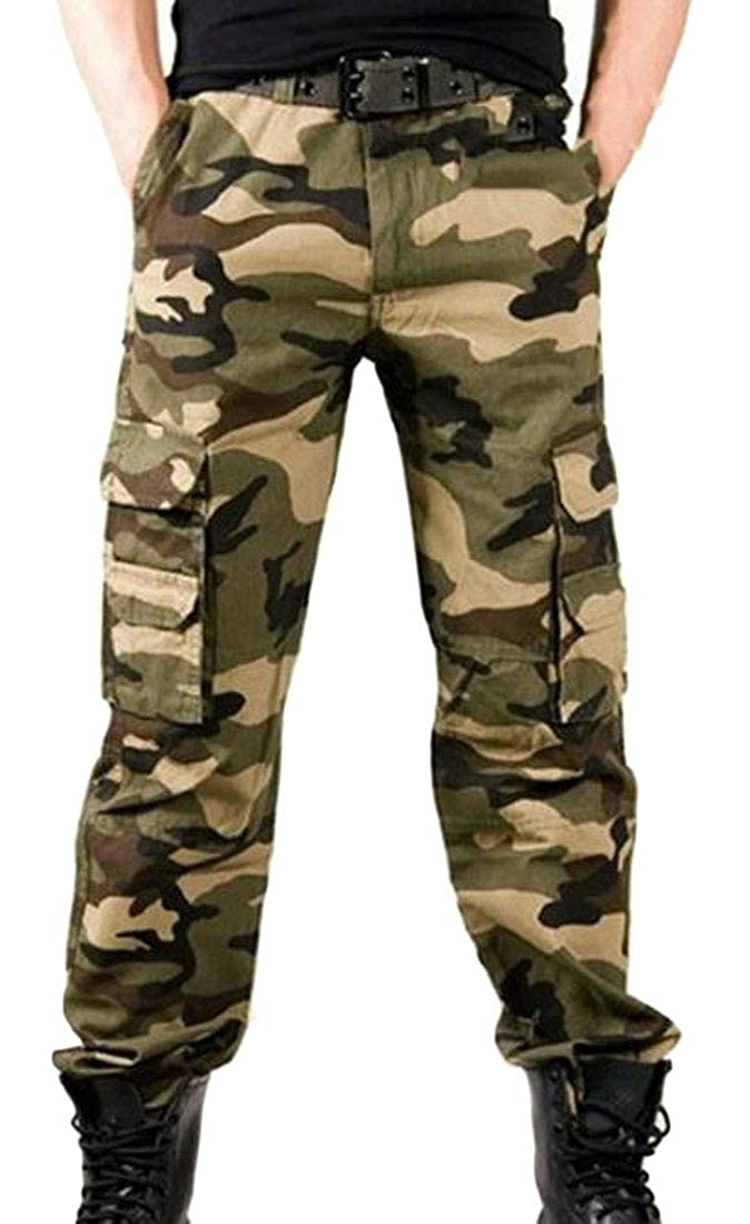 WSPLYSPJY Mens Hiking Stretch Pants Cargo Trouser Tactical Outdoor Working Pants