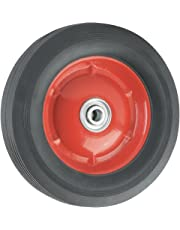 Replacement Wheel with Offset Steel Hub - 8-Inch x 1-3/4-Inch - Ribbed, 60 lb. Load Capacity - for use on Wheelbarrows, Wagons, Carts, Many Other Products