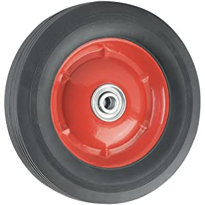 Replacement Wheel with Offset Steel Hub - 8-Inch x 1-3/4-Inch - Ribbed, 60 lb. Load Capacity - For use on Wagons, Carts, & Many Other Products