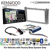 Volunteer Audio Kenwood DNX874S Double Din Radio Install Kit with GPS Navigation Apple CarPlay Android Auto Fits 2000-2003 Nissan Maxima (With Bose)