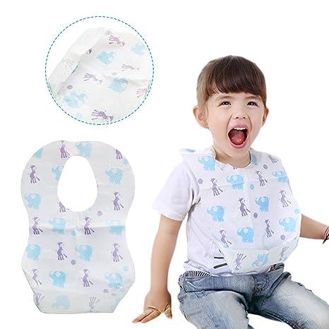 Lovely Cute patrón de dibujos animados Toddler Bebé 20pcs/set impermeable toalla de la saliva