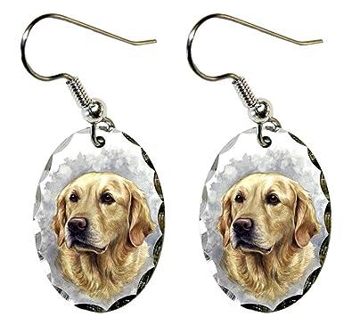 cc7c95fc6 Amazon.com: Canine Designs Golden Retriever Scalloped Edge Oval ...