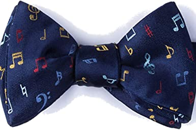 Mens Pre Tied Bow Ties for Wedding Party Music Musical Notes Adjustable Bowties