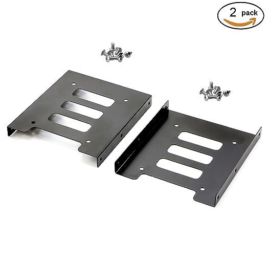 """2 opinioni per Pasow 6,35 cm (2,5"""") a 8,89 cm (3,5"""") Hard Disk SSD-Staffa-adattatore di metallo"""