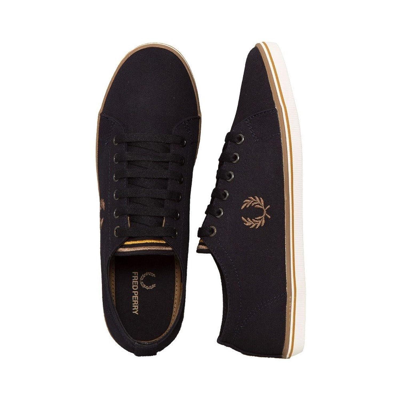 (フレッドペリー) Fred Perry メンズ シューズ靴 スニーカー Kingston Twill Navy/Almond/Sahara [並行輸入品] B07B9WW857